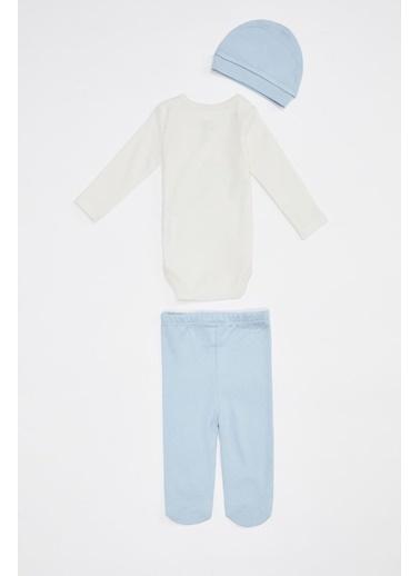 DeFacto Erkek Bebek 3'lü Takım Mavi